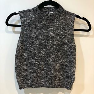 H&M Crop High Neck Top